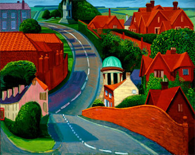 David Hockney's 'Road to Sledmere - 47kB jpg