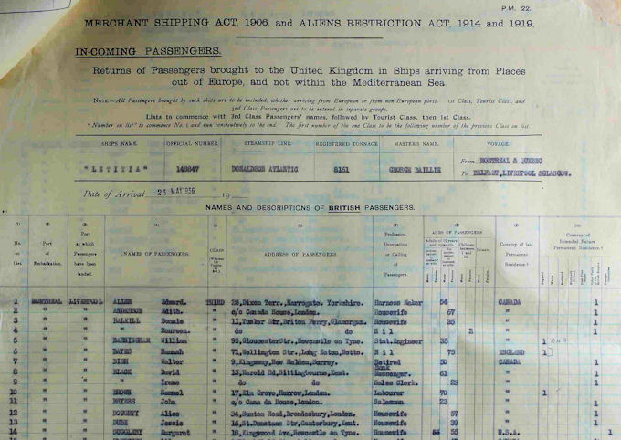 Margaret louisa Letitia passenger list 23may36 - 82kB jpg