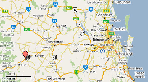 A map locating Pittswork, Queensland - 51kB jpg