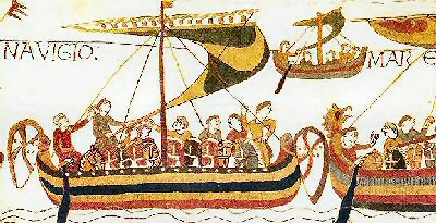 Norman boat from the Bayeux Tapestry 41Kb-jpg